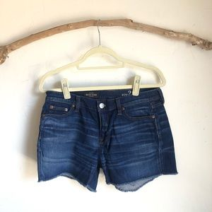 JCREW Midrise Short with frayed hem